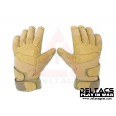 BHD Full Finger Assault Gloves - Tan(M-XL)